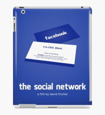 The Social Network film poster iPad Case/Skin