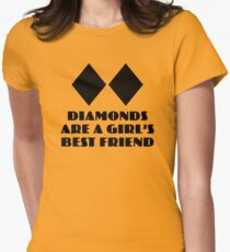 Diamonds are a Girl's Best Friend Women's Fitted T-Shirt