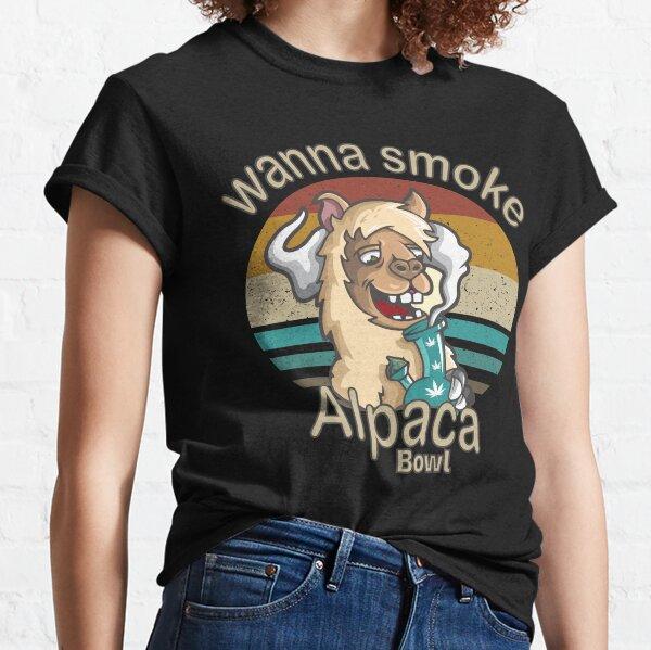 wanna smoke alpaca bowl shirt for men Classic T-Shirt