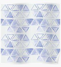simple watercolor triangel pattern Poster