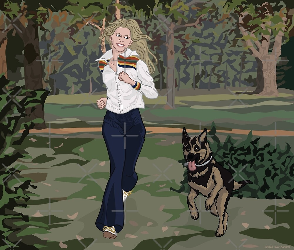 And Her Dog by Ray Caspio