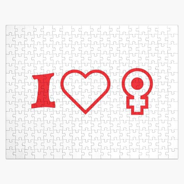 I❤️♀️ I love women Jigsaw Puzzle