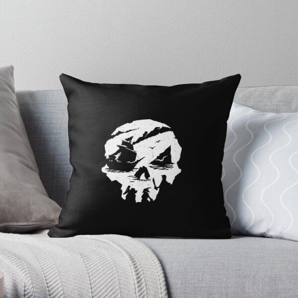 Sea Of Thieves White logo Coussin