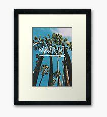 Wanderlust Palm Framed Print