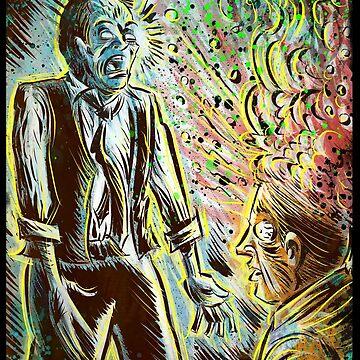 Scanners art print david cronenberg horror sci fi science fiction 1981 80's film movie michael ironside body horror cult classic joe badon by joebadon