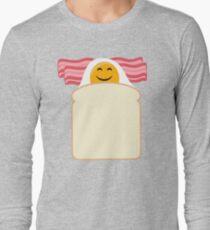 Good Morning Breakfast Cute Bacon and Egg T Shirt Long Sleeve T-Shirt