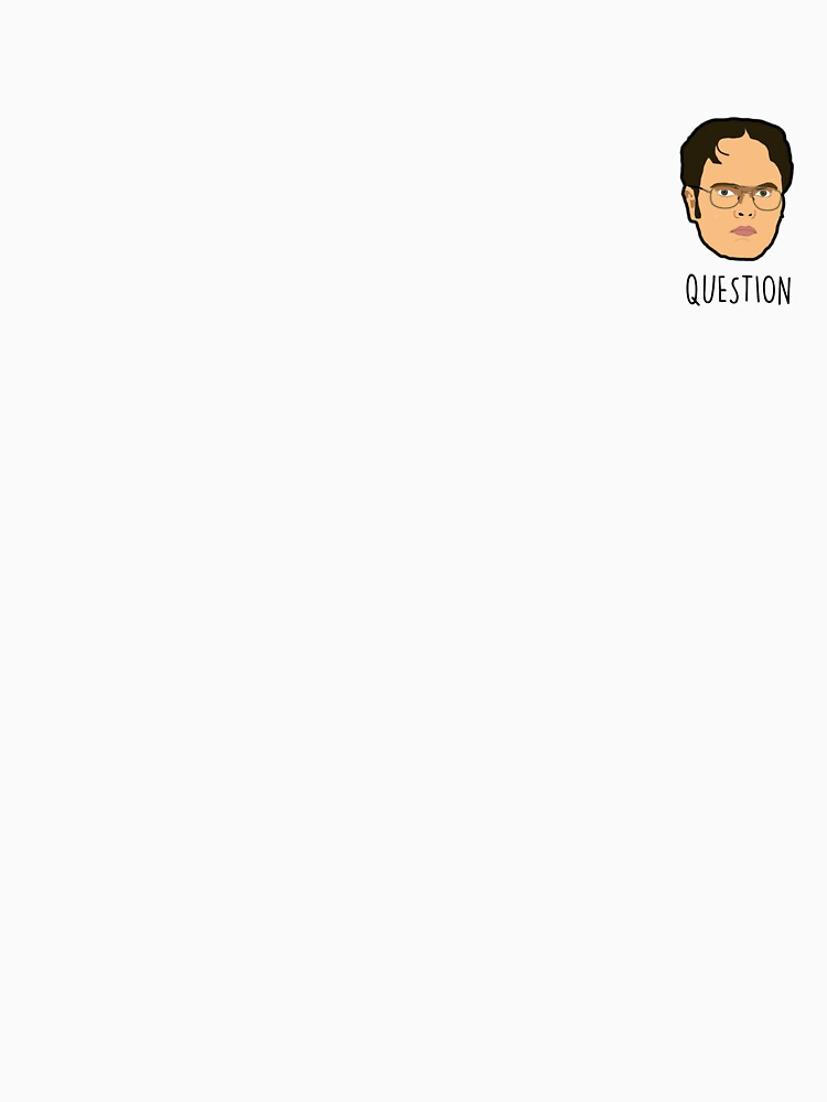 Dwight Schrute Mini Head - Question | Unisex T-Shirt