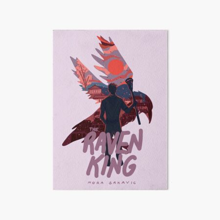 The Raven King Book Cover Art Board Print