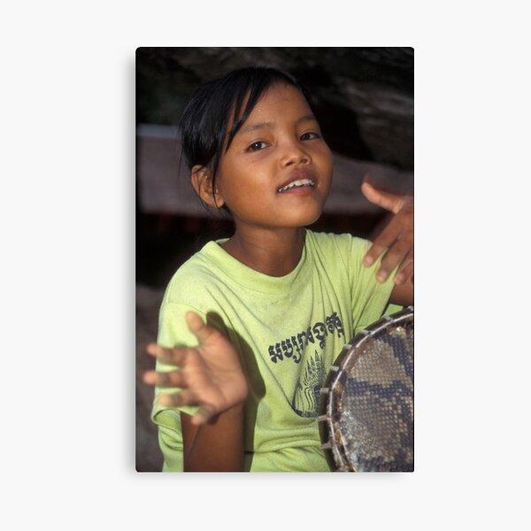 Angkor Wat drummer girl Canvas Print