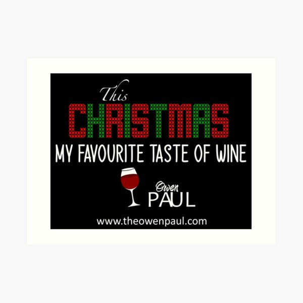 This Christmas - Taste of Wine Art Print