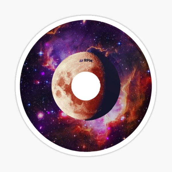 Space Music - Vinyl Record Single Sticker