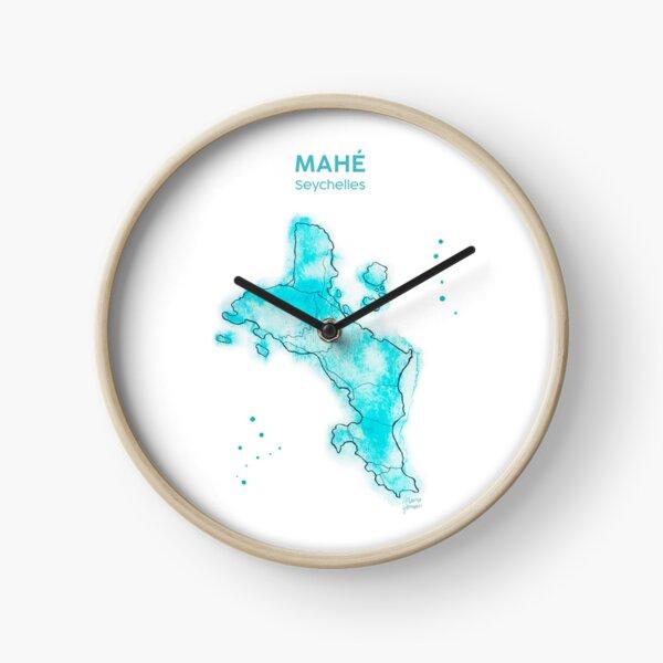 Seychellen, Mahé Aquarell, mit Text Uhr