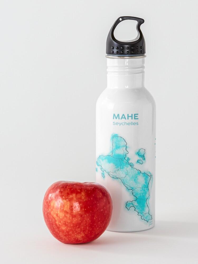 Alternative Ansicht von Seychellen, Mahé Aquarell, mit Text Trinkflasche