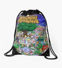 Animal Crossing Poster Drawstring Bag
