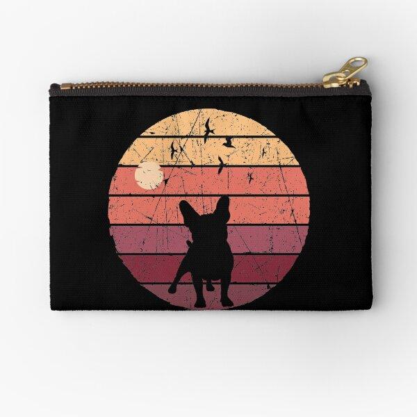 French Bulldog Retro Vintage sunset dog gift Zipper Pouch