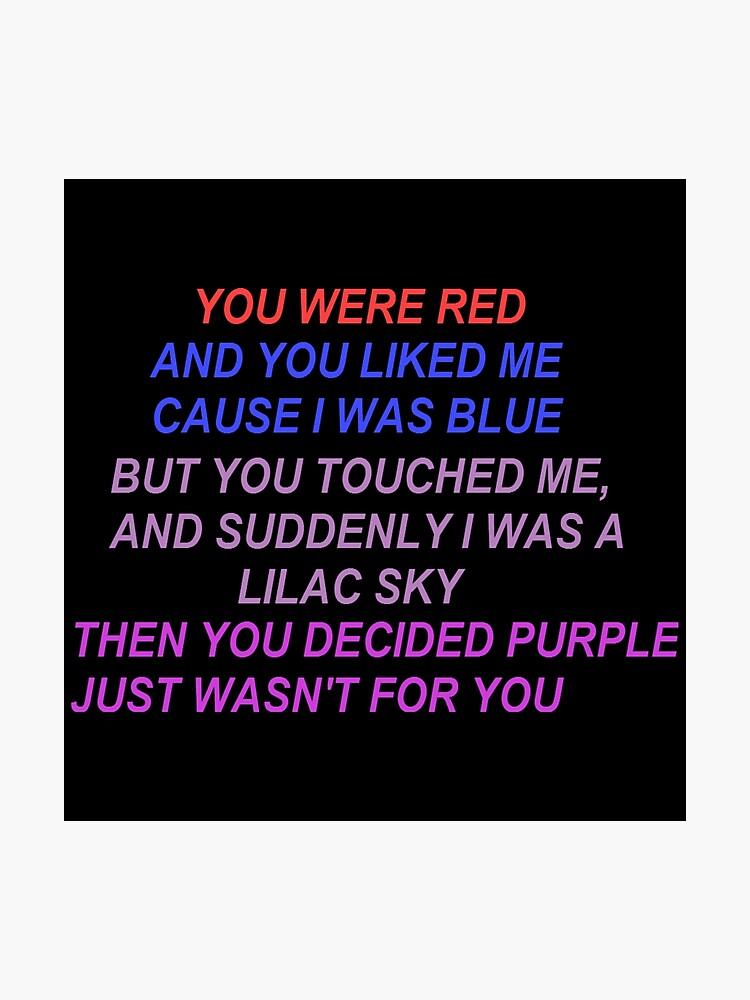 Halsey Colors Lyrics   Photographic Print