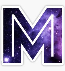 The Letter M - Space Sticker
