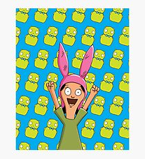 Louise Belcher Light Pattern Blue Photographic Print