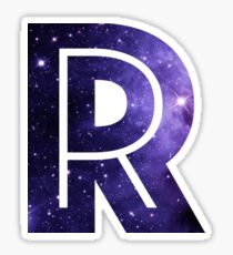 The Letter R - Space Sticker