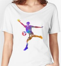 man soccer football player 14 Women's Relaxed Fit T-Shirt