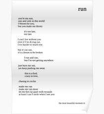 BTS/Bangtan Sonyeondan - Run Lyrics Poster