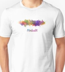 Makati skyline in watercolor Unisex T-Shirt