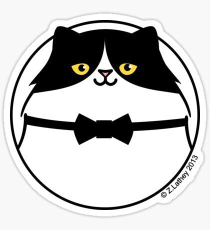 Sophisticated Black & White Cat Sticker