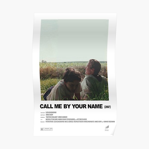 Call Me By Your Name (2017) Alternative Film Poster Poster