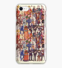 The party doesn't start until the Doctor walks in...twelve times iPhone Case/Skin