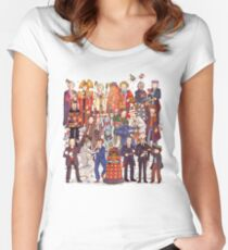 The party doesn't start until the Doctor walks in...twelve times Women's Fitted Scoop T-Shirt
