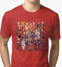 The party doesn't start until the Doctor walks in...twelve times Tri-blend T-Shirt