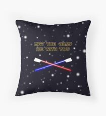 May the oars be with you rowing pun Throw Pillow