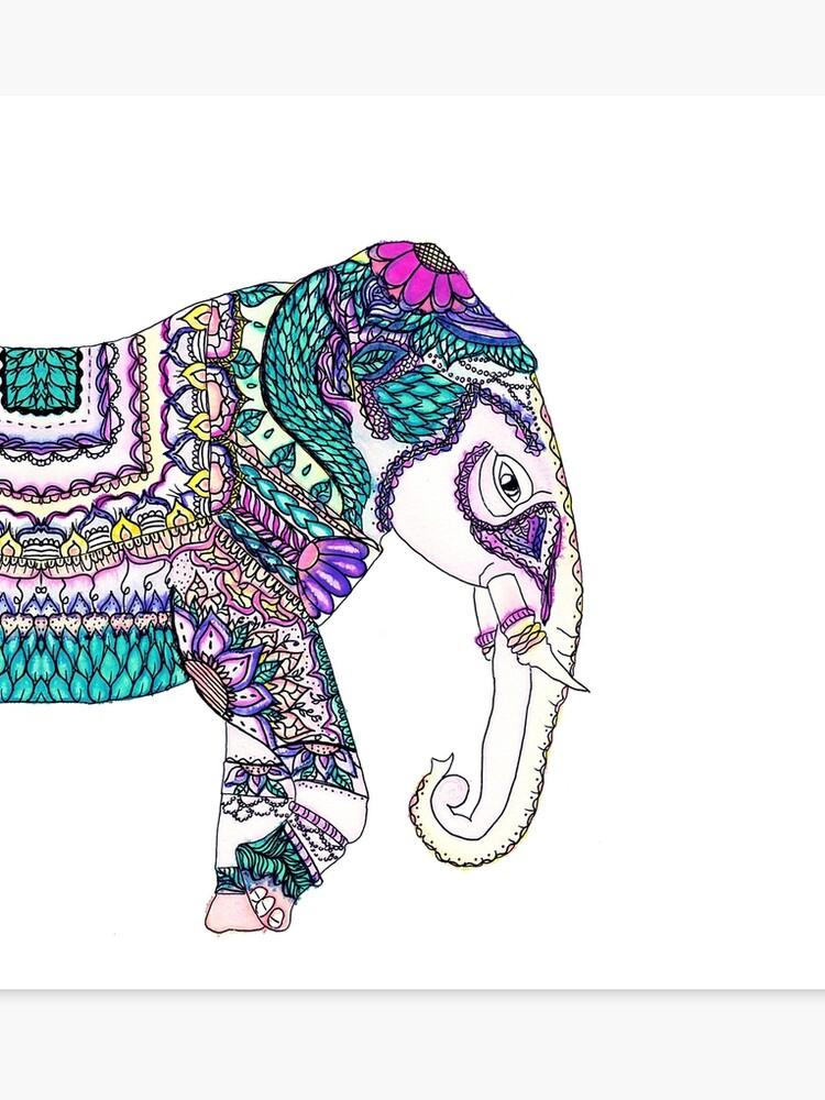 1dc65f77 Boho bright watercolor tribal henna elephant