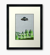 Rick and Morty - I Want To Believe Framed Print