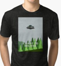 Rick and Morty - I Want To Believe Tri-blend T-Shirt