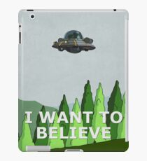Rick and Morty - I Want To Believe iPad Case/Skin