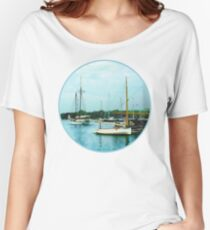 Boats on a Calm Sea Women's Relaxed Fit T-Shirt