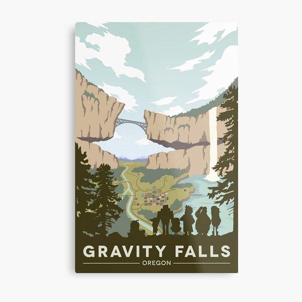 Gravity Falls National Park Metal Print
