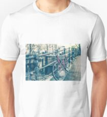 Amsterdam canal and bicycles Unisex T-Shirt