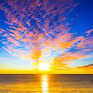 Beautiful sunset over the ocean by gianliguori