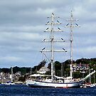 Ship at St. Mawes by © Loree McComb