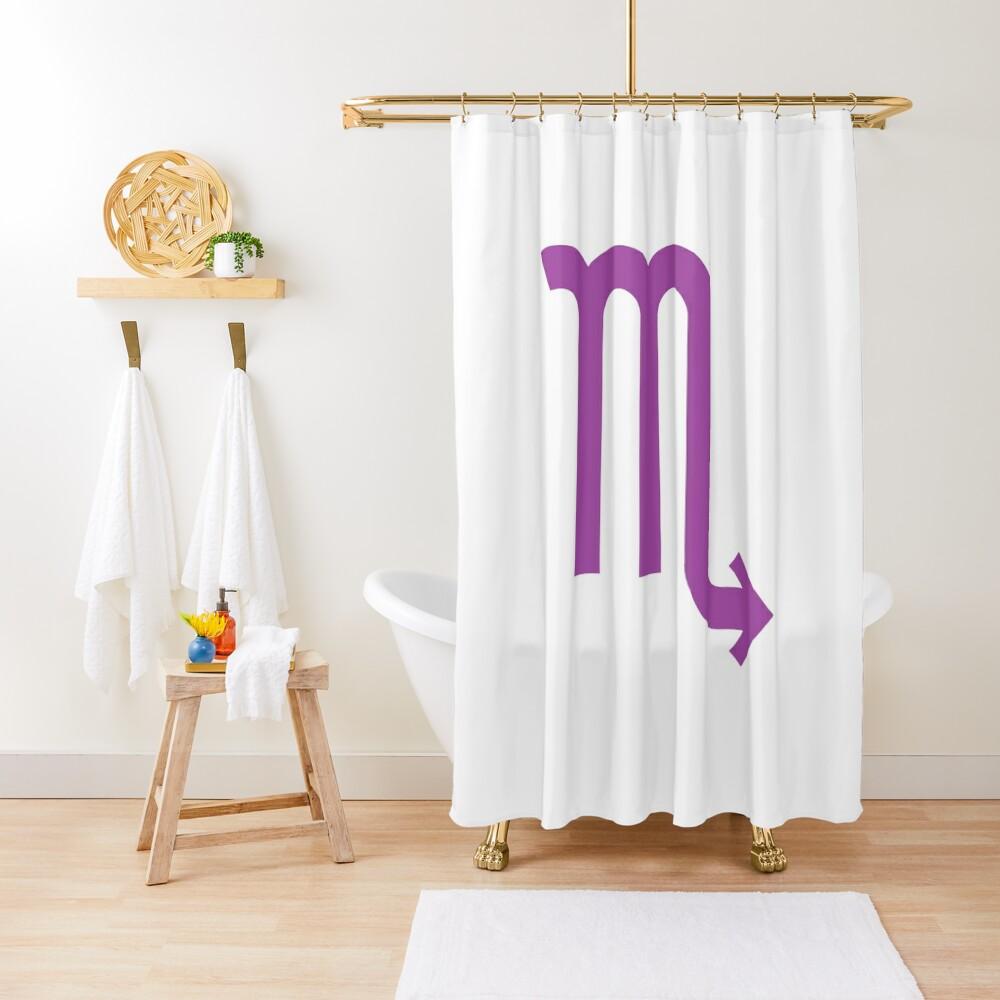 ♏ Scorpio, Zodiac Sign Shower Curtain