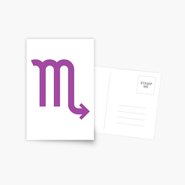 ♏ Scorpio, Zodiac Sign Postcard