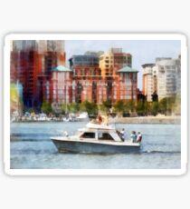 Maryland - Cabin Cruiser by Baltimore Skyline Sticker