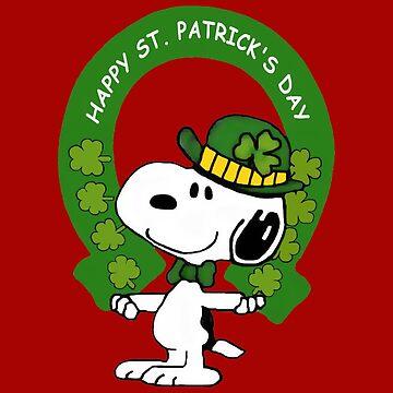 Snoopy Happy St Patricks Day by YaphiClimb