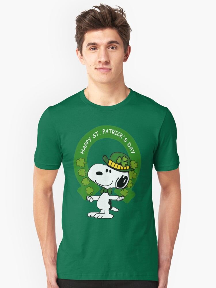 Snoopy Happy St Patricks Day Unisex T-Shirt Front
