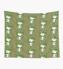 Snoopy Happy St Patricks Day Wall Tapestry