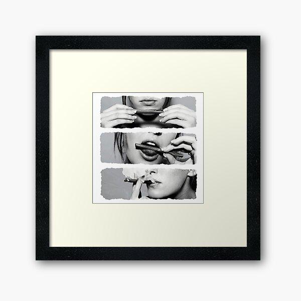 Girls love blunts Framed Art Print