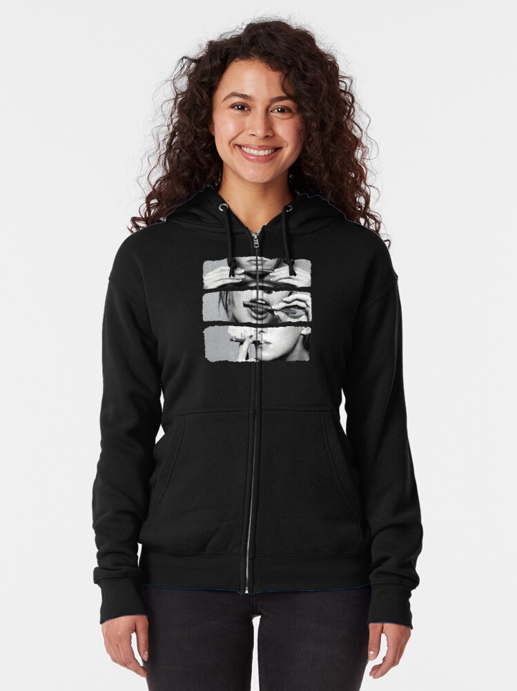 Alternate view of Girls love blunts Zipped Hoodie
