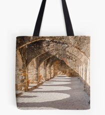 Shadows in the San Jose Mission Convento Tote Bag